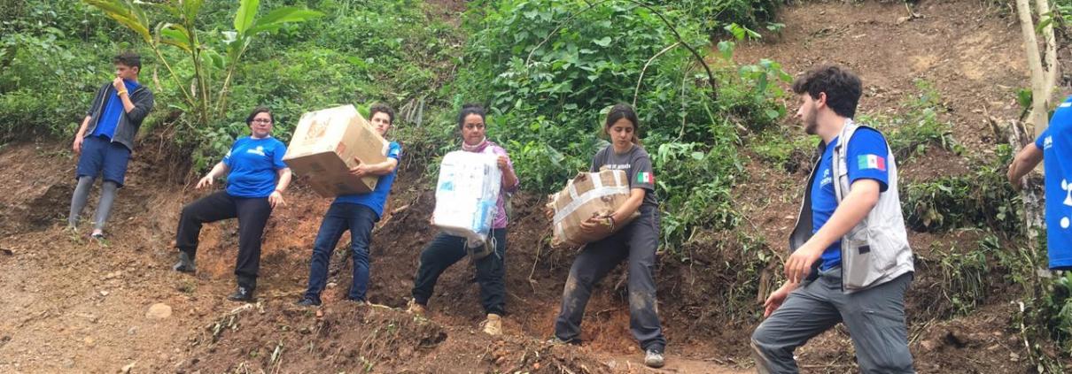 Misión a Oaxaca en 2018 tras el huracán