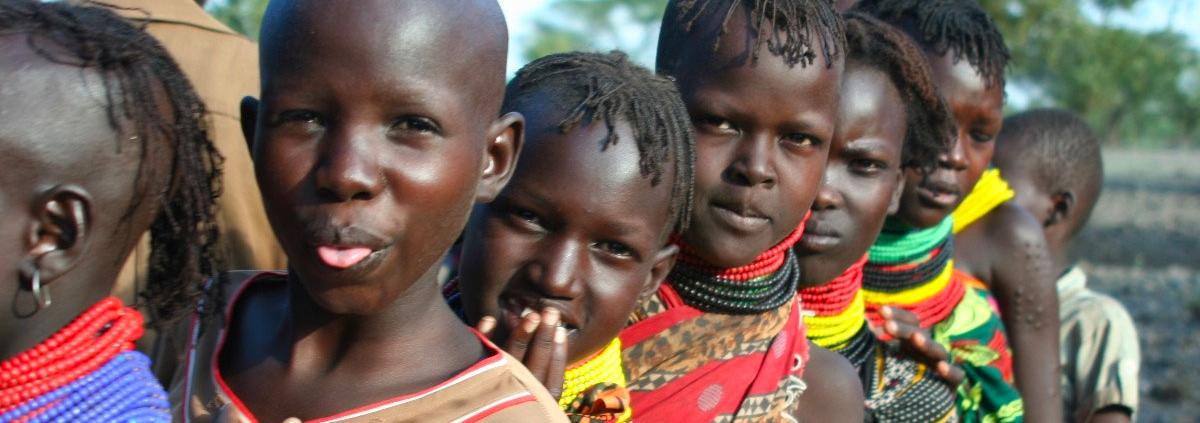 Un grupo de niños en Turkana, Kenia.