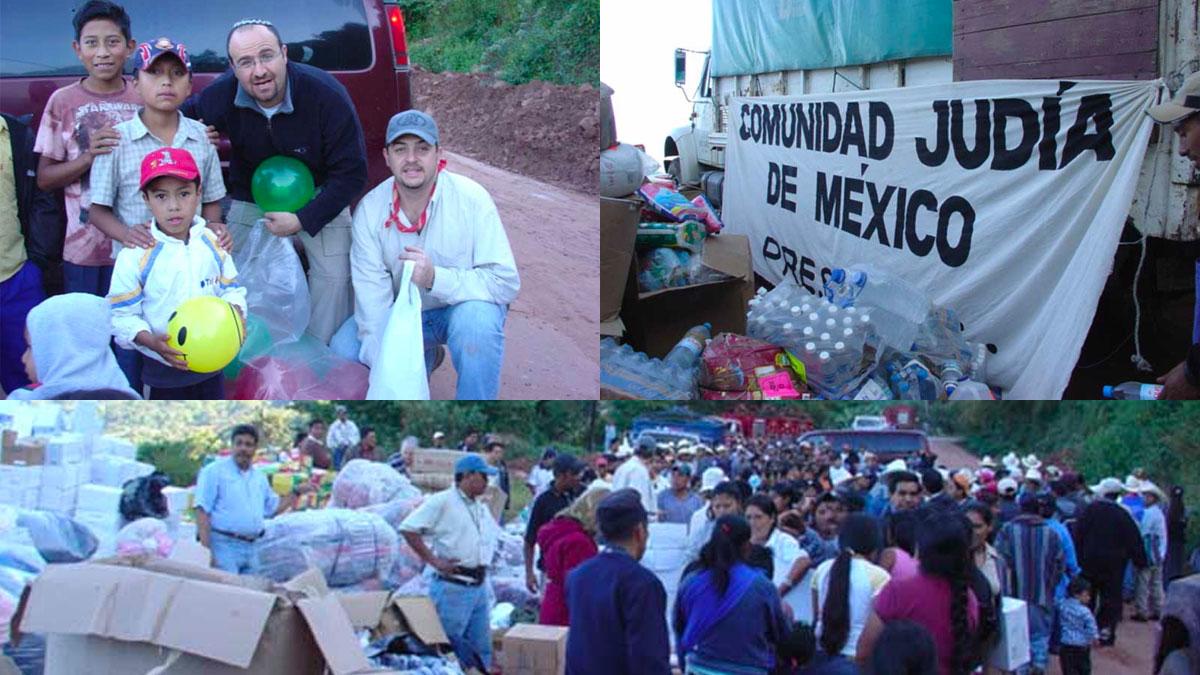 La Comunidad Judía de México entregando asistencia en Chiapas tras el huracán Stan